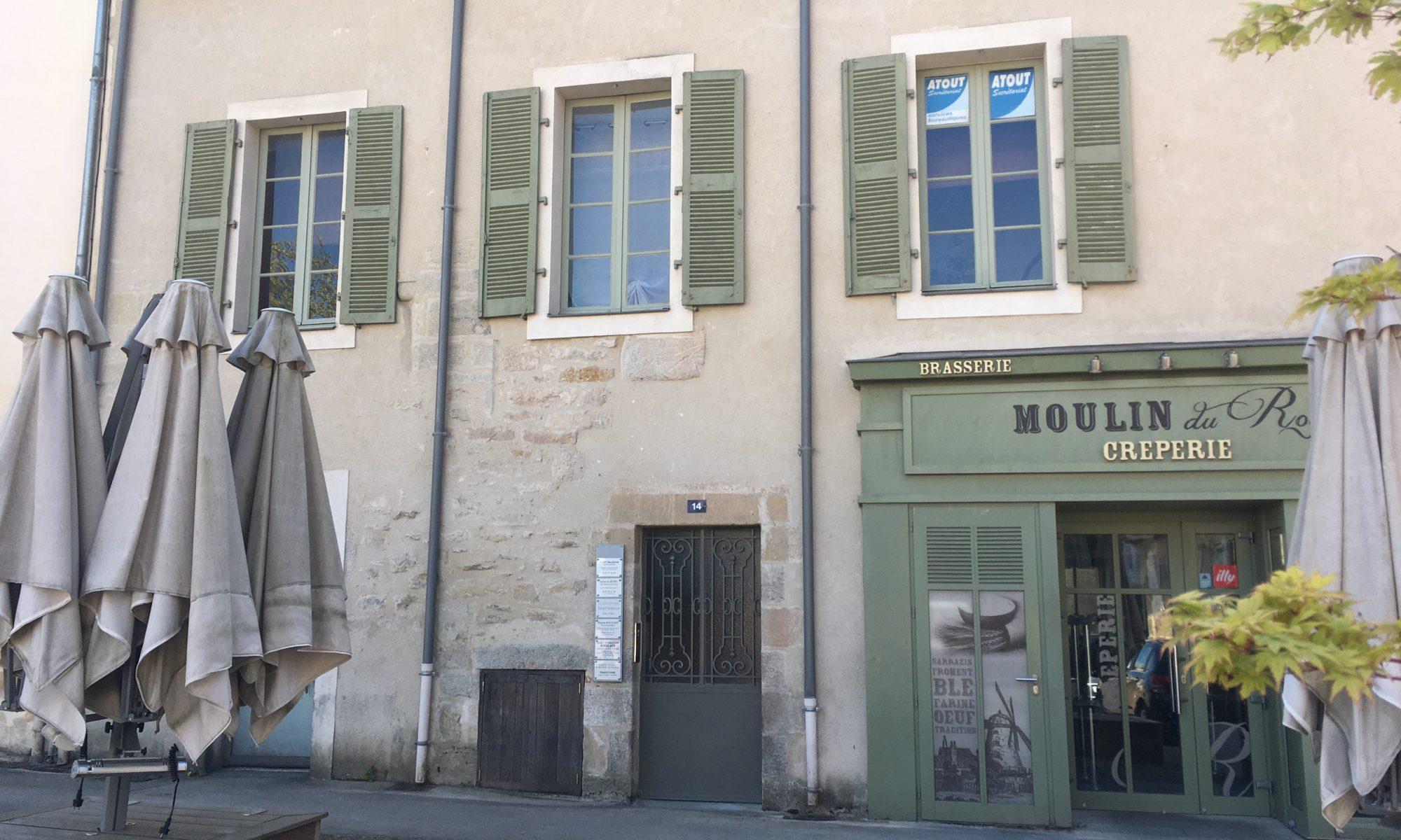 14 Place Gambetta, Vannes : entrée du cabinet
